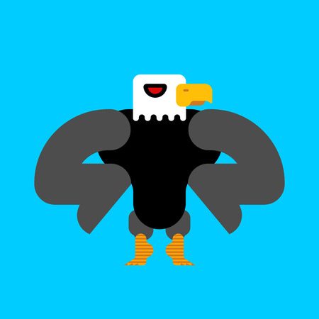 Strong bald eagle isolated. Great powerful bird. Vector illustration. Illusztráció