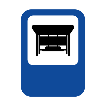 Bus stop sign isolated. bus station Vector illustration Illustration