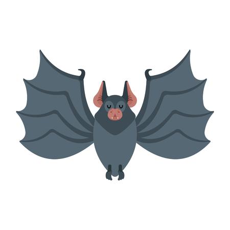 Bat isolated. Night animals vampire. Vector illustration Standard-Bild - 115094269