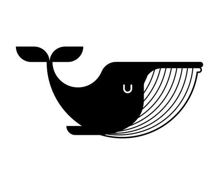 Whale icon sign. large mammal under water. Vector illustration