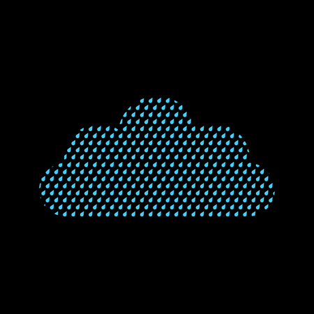 Cloud of drops isolated. Weather icon sign. Vector illustration