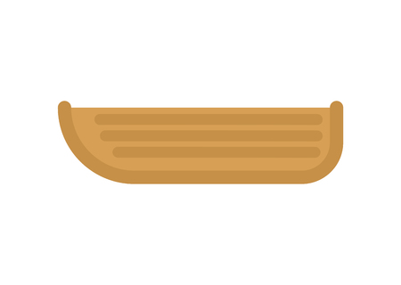 Wooden boat isolated. Fisherman transport. Vector illustration Banco de Imagens - 114740045