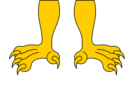 Paws of eagle isolated. feet hawk. Vector illustration Stock Illustratie