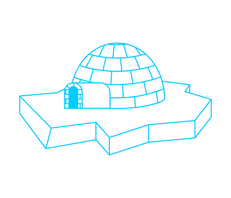 Igloo Eskimos traditional home. House of ice. Vector illustration Stock Vector - 111968384