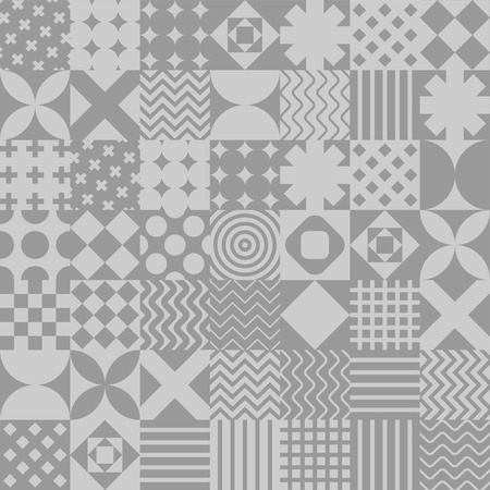 Patchwork pattern seamless. Quilt ornament. Quilted Blanket texture. Vector background