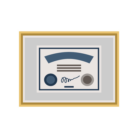 Certificate isolated. Diploma sign. Award icon template. Vector illustration