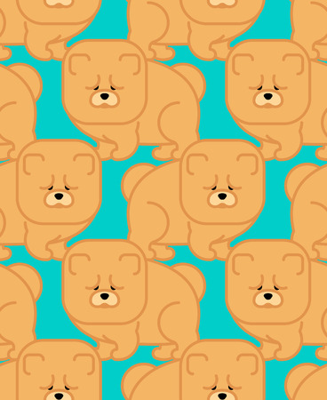 Chow Chow pattern seamless. Dog for China. Pet Vector background