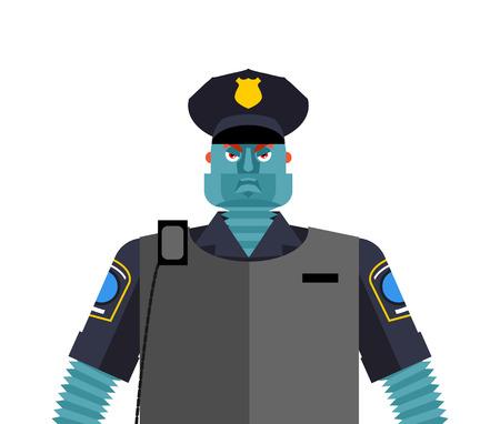 Robot Cop. Policeman Cyborg.