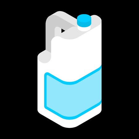 Milk Gallon isometric. plastic bottle isolated . Vector illustration