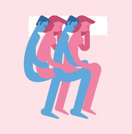 Polyamory Polygamous sexual relationship. Group love. People sleep in bed