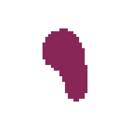 Spleen pixel art. Human internal organs 8 bit. Pixelate anatomy 16bit. Old game computer graphics style