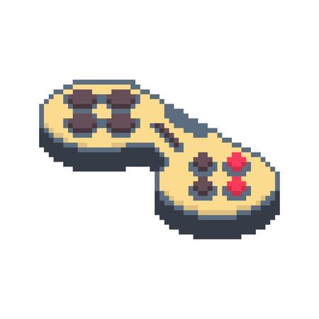 Joystick pixel art. Gamepad 8bit. Video game Old school control lever