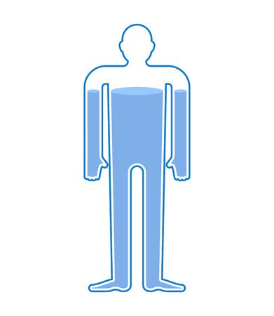 Water balance body. Liquid in human body. Man health aquatic.
