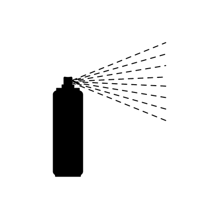 Spray paint bottle isolated. paint can vector illustration
