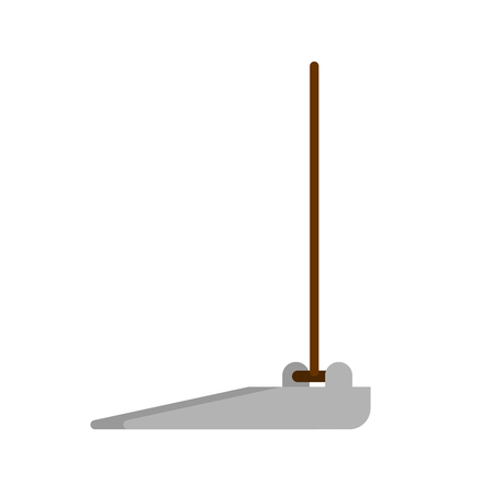 Dustpan isolated. Scoop for garbage. Janitor Accessory  Illustration