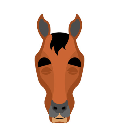 Horse sleeping emoji. Steed asleep emotions. hoss dormant. Vector illustration Ilustração