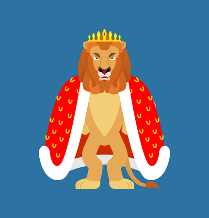 Lion is king of animals. Leo in crown Vetores