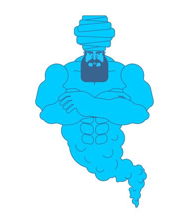 Genie magic wizard isolated. Genius Fairy spirit