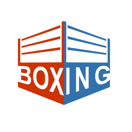 Boxing ring sign symbol. Boxing icon. Vector illustration