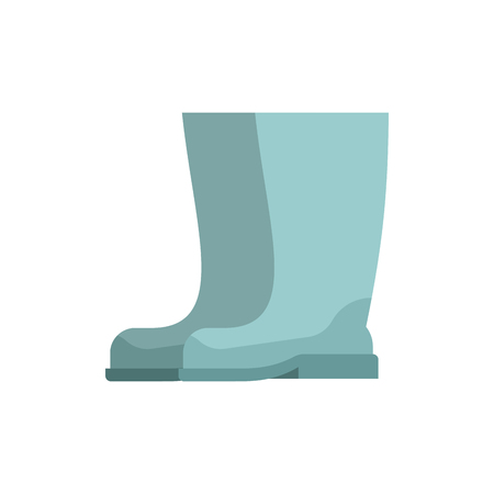 Rubber boots isolated. riding boot vector illustration  イラスト・ベクター素材
