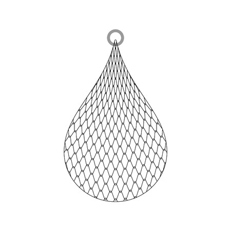 Fishing net isolated. fishnet cartoon vector illustration