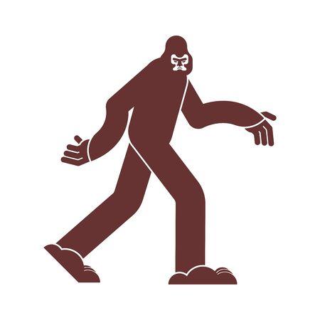 Bigfoot icon. Yeti sign. Abominable snowman symbol. sasquatch