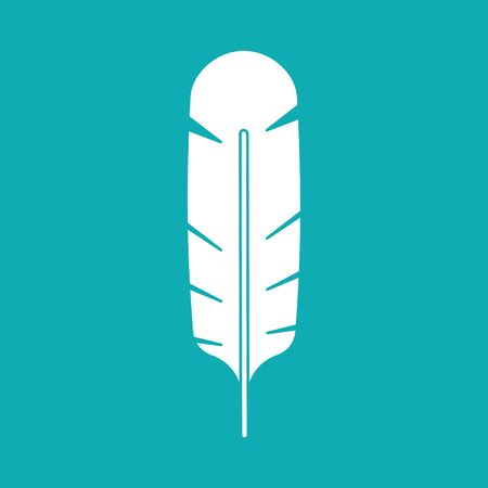 White feather isolated. bird feather vector illustration