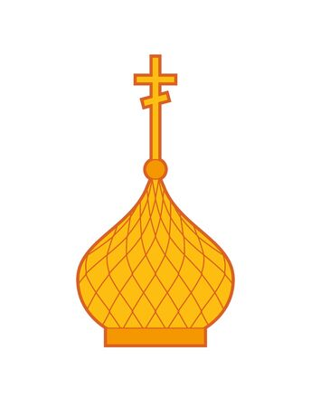 Golden Church Dome isolated. Religion vector illustration