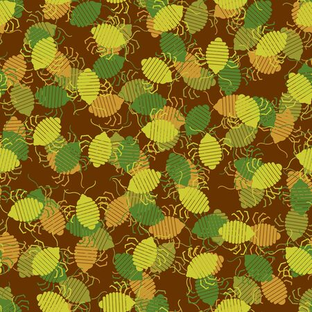 Bed bug military pattern seamless. bedbug army background. chinch Protective vector texture
