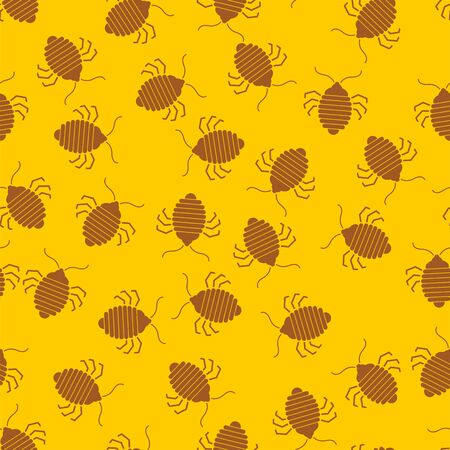 Bed bug pattern seamless. bedbug background. chinch vector texture