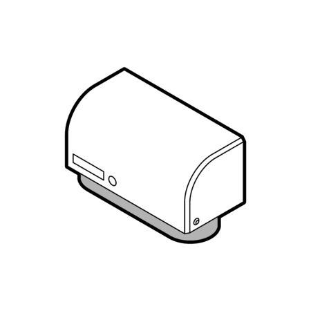 Hand dryer isolated. hygiene bathroom. vector illustration
