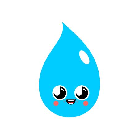 Water Element Cute   isolated. funny waters cartoon style. kids character. Childrens style. Standard-Bild - 131967281