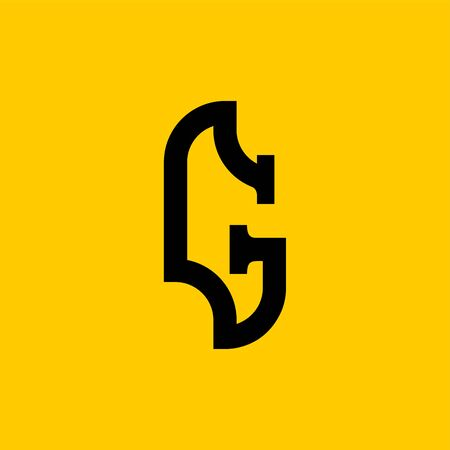 G letter old Russian font. National Folk alphabet Russia. Retro ABC sign. Vector illustration Vectores
