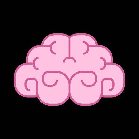 Brain cartoon isolated. brains sign. Vector illustration