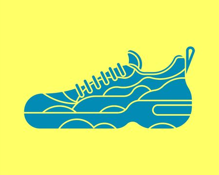 Sneaker isolated. Sneakers Sports shoes vector illustration  イラスト・ベクター素材