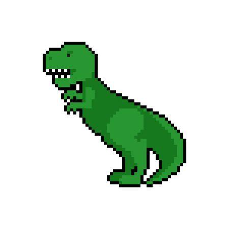 Art de pixel de tyrannosaure. Dino 8 bits. Dinosaure pixelisé. illustration vectorielle