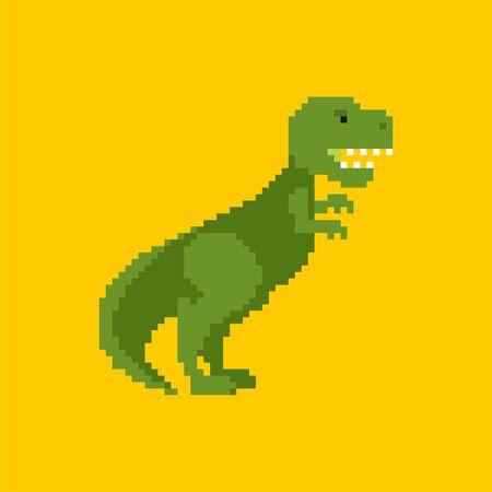 Tyrannosaurus pixel art. Dino 8 bit. Dinosaur Pixelate. vector illustration