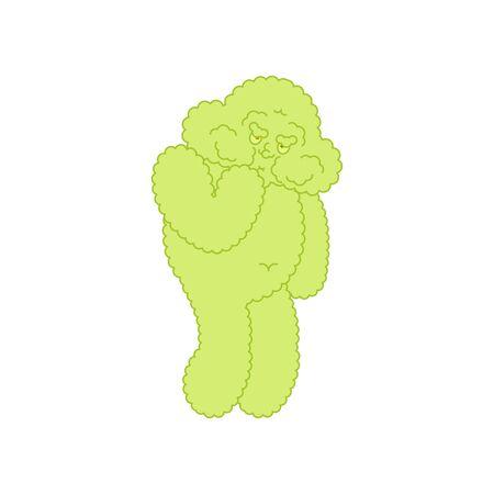Cloud Nausea Feeling sick emotion isolated. Sick Cartoon Style. Vector illustration Illustration