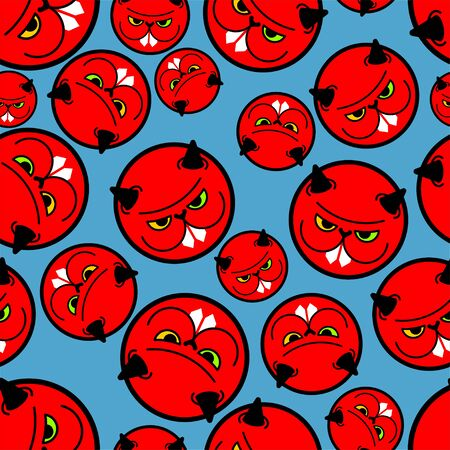 Angry hamster pattern seamless. Crazy rodent background . Devil Mad animal. Vector illustration  イラスト・ベクター素材
