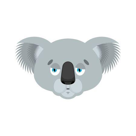 Koala Nausea emoji. koala bear Sick emotions avatar. Beast ill. Vector illustration Stock Illustratie