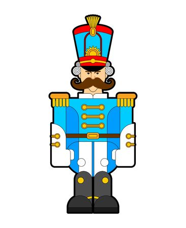 Hussar soldier retro. Guardsman with mustache. vector illustration