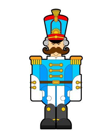 Hussar soldier retro. Guardsman with mustache. vector illustration