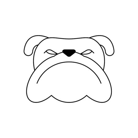 Angry dog face icon isolated. vector illustration