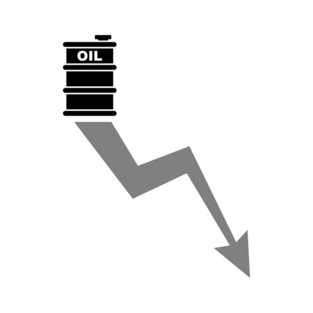 Chart for lower prices for oil and petroleum products. Oil decline graph