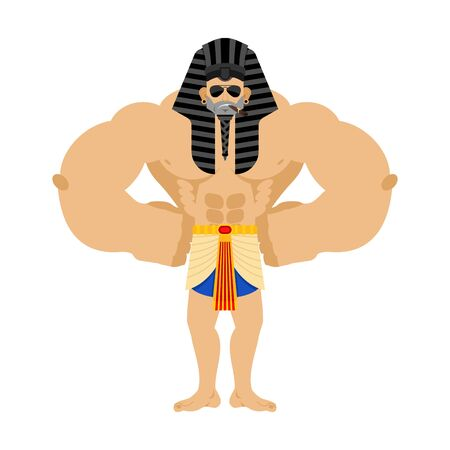 Pharaoh Strong Cool serious. Rulers of ancient Egypt strict. Vector illustration Vetores