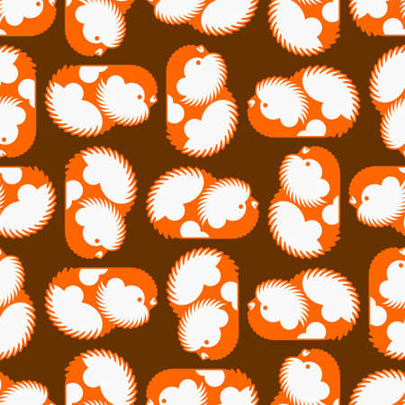 Cavy pattern seamless. guinea pig background. Baby fabric texture