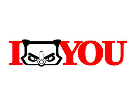 I be angry you. Displeased cat symbol of anger Vektorgrafik