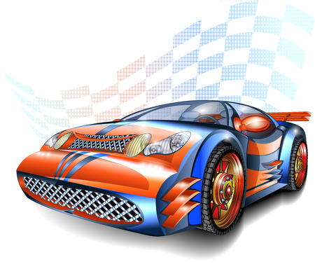 El exceso de velocidad del coche de competición Foto de archivo - 45315460