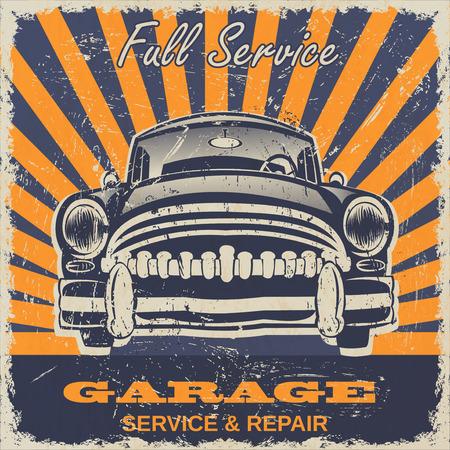 imperfections: Vintage garage retro poster