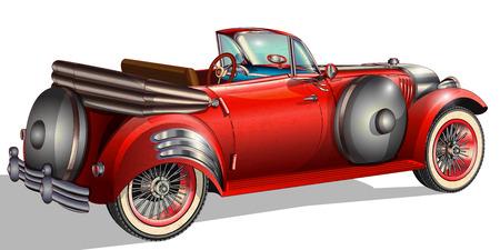 Cosecha de coches Ilustración de vector